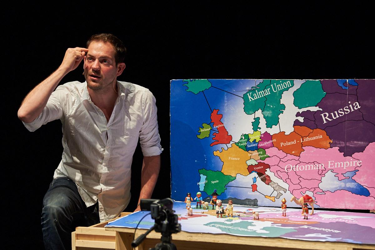 Visionen für Europa, erklärt von Lucas De Man mit Playmobilfiguren